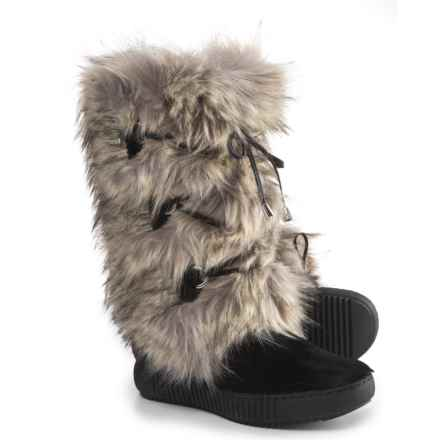 Oscar Sport Tall Faux-Fur Boots (For Women) in Grey/Black - Closeouts