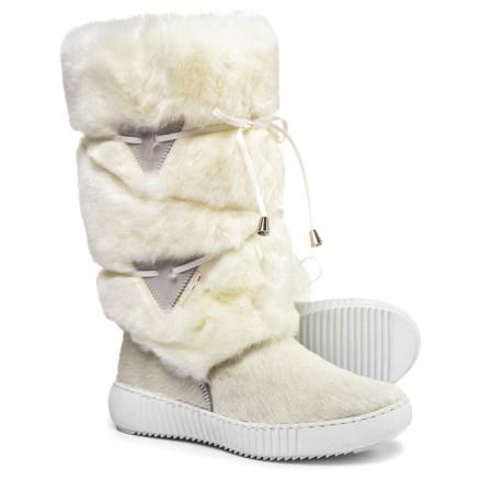 Oscar Sport Tall Wrap Faux-Fur Boots (For Women) in White