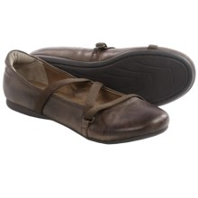 OTBT Ardmore Ballet Flats - Leather (For Women) in Dark Brown - Closeouts