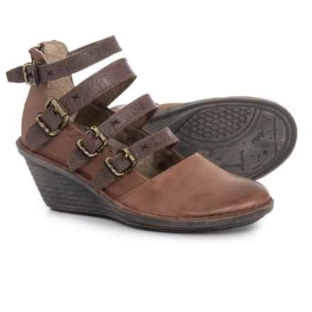 OTBT Biker Mary Jane Shoes - Leather (For Women) in Acorn - Closeouts