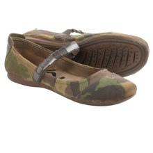 OTBT Brea Mary Jane Shoes - Leather (For Women) in Camo - Closeouts