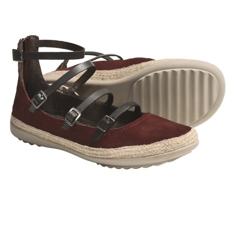 OTBT Copan Shoes - Leather (For Women) in 616 Hunting Red