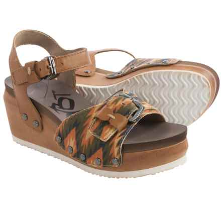 OTBT Danbury Platform Wedge Sandals (For Women) in New Taupe - Closeouts