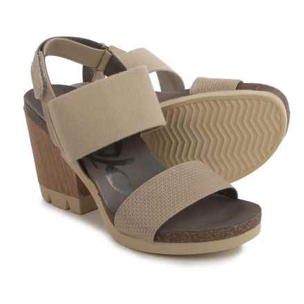 OTBT Duty Free Platform Sandals (For Women) in Stone - Closeouts
