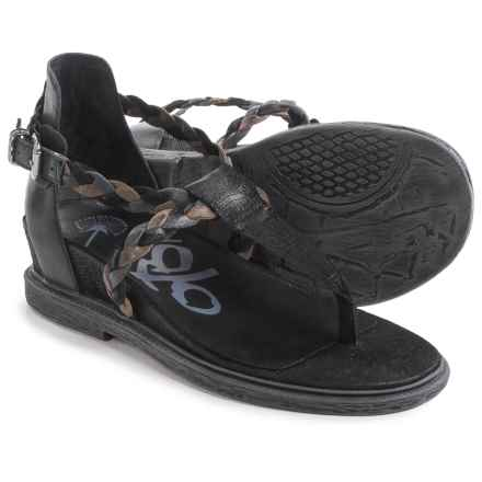 OTBT Earthly Strappy Sandals - Leather (For Women) in Black - Closeouts