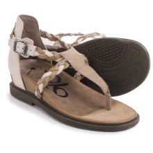 OTBT Earthly Strappy Sandals - Leather (For Women) in Cement - Closeouts