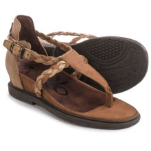 OTBT Earthly Strappy Sandals - Leather (For Women) in Havana - Closeouts