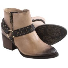 OTBT Emery Ankle Boots - Leather (For Women) in Grey Powder - Closeouts