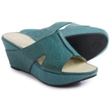 OTBT Hannibal Sandals - Leather (For Women) in Dany Blue - Closeouts