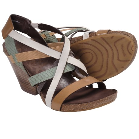 OTBT Ladonia Gladiator Sandals - Leather (For Women) in New Taupe Multi