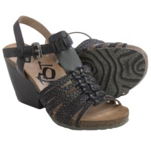 OTBT Leon T-Strap Sandals (For Women) in Black Scale - Closeouts