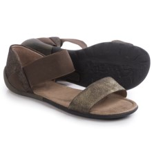 OTBT Milawkie Strap Leather Sandals (For Women) in Dark Brown - Closeouts