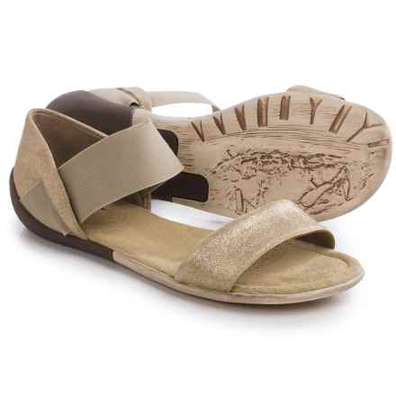 OTBT Milawkie Strap Leather Sandals (For Women) in Medium Taupe - Closeouts