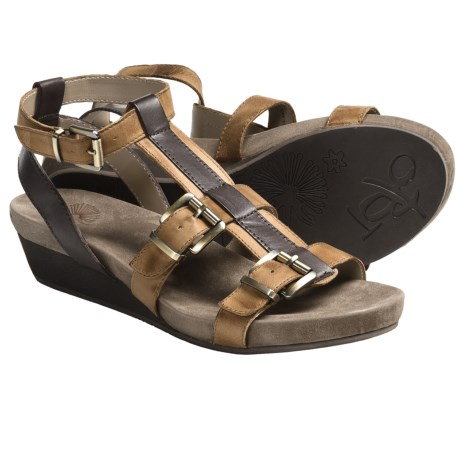 OTBT Sparks Sandals - Leather (For Women) in Brown Sugar