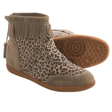 OTBT Stanton Ankle Boots (For Women) in Stone Leopard Print - Closeouts