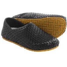 OTZ Shoes 300GMS Woven-Leather Shoes - Slip-Ons (For Men and Women) in Black - Closeouts