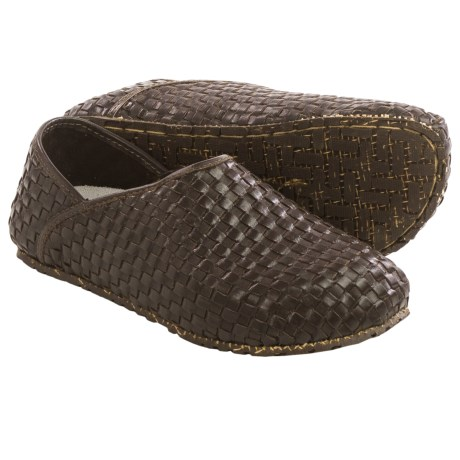 OTZ Shoes 300GMS Woven Leather Shoes Slip Ons (For Men and Women)