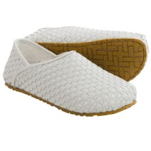 OTZ Shoes 300GMS Woven-Leather Shoes - Slip-Ons (For Men and Women) in White - Closeouts