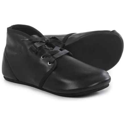 OTZ Shoes Bottine Leather Lace Shoes (For Women) in Black - Closeouts