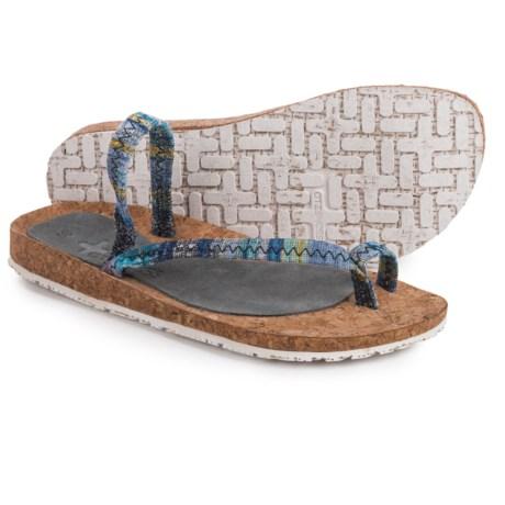 OTZ Shoes Diana Batik Sandals (For Women) in Grey Shale