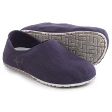 OTZ Shoes Espadrille Linen Shoes - Slip-Ons (For Women) in Nightshade - Closeouts