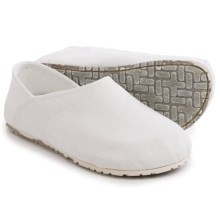 OTZ Shoes Espadrille Linen Shoes - Slip-Ons (For Women) in White - Closeouts