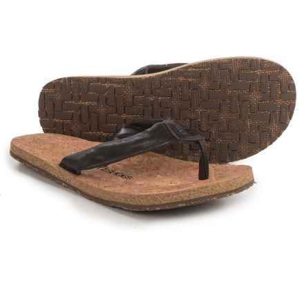 OTZ Shoes Geta Flip-Flops - Leather (For Men) in Brown - Closeouts