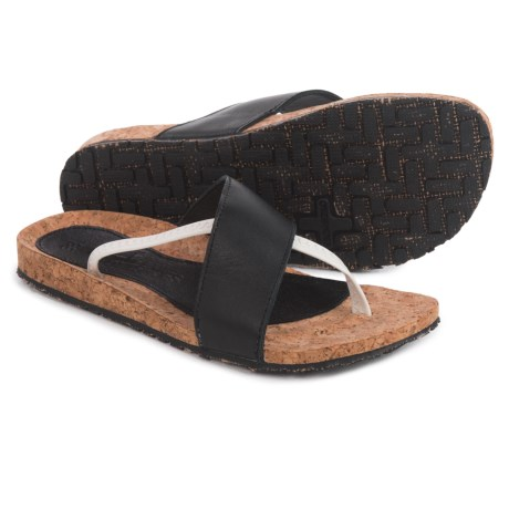 OTZ Shoes Hygeia Sandals - Leather (For Women) in Black/White