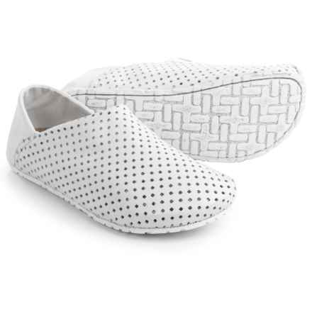 OTZ Shoes Perforated Leather Espadrilles (For Women) in White - Closeouts