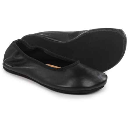 OTZ Shoes Semis Ballet Flats - Leather (For Women) in Black - Closeouts