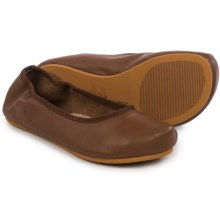 OTZ Shoes Semis Ballet Flats - Leather (For Women) in Ginger - Closeouts