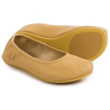 OTZ Shoes Semis Ballet Flats - Leather (For Women) in Jojoba Suede - Closeouts
