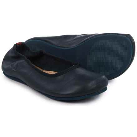 OTZ Shoes Semis Ballet Flats - Leather (For Women) in Midnight Navy - Closeouts