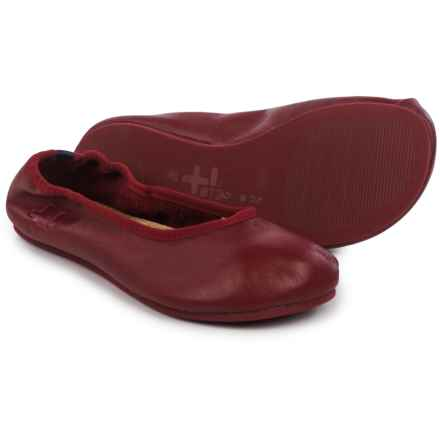 OTZ Shoes Semis Ballet Flats - Leather (For Women) in Team Red - Closeouts