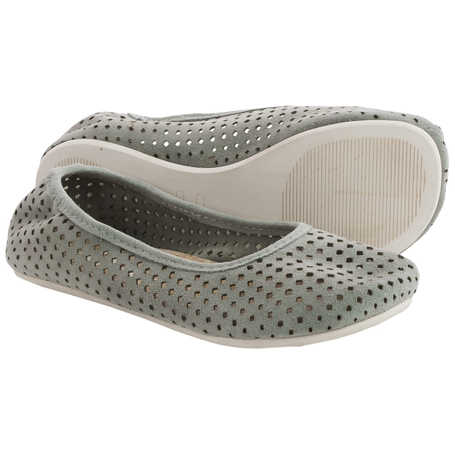Otz Shoes Semis Perforated Suede Ballet Flats