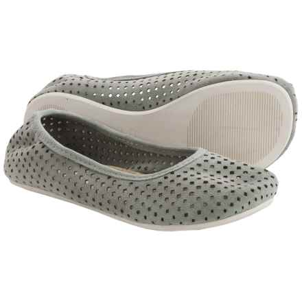 OTZ Shoes Semis Perforated Suede Ballet Flats (For Women) in Highrise - Closeouts