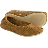 OTZ Shoes Semis Perforated Suede Ballet Flats (For Women)