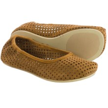 OTZ Shoes Semis Perforated Suede Ballet Flats (For Women) in Mustard - Closeouts