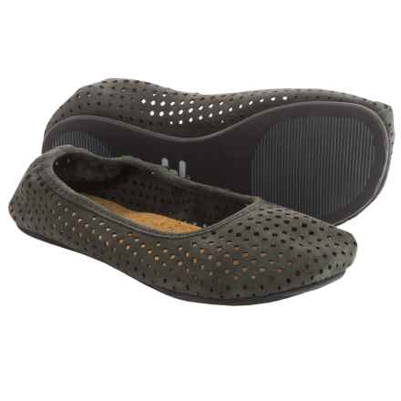 OTZ Shoes Semis Perforated Suede Ballet Flats (For Women) in Shale - Closeouts