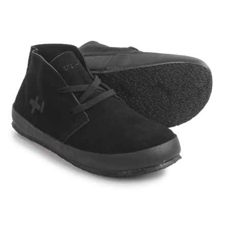 OTZ Shoes Trench Sneakers - Suede (For Men) in Black - Closeouts