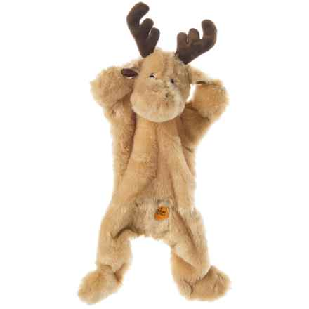 Outback Jack Biggie Moose Dog Toy - Stuffing Free in Brown - Closeouts