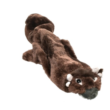 Outback Jack Floppie Bison Dog Toy - Stuffing Free in See Photo
