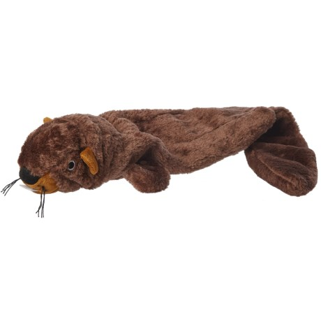 Outback Jack Lobbie Beaver Dog Toy - Stuffing Free in Brown