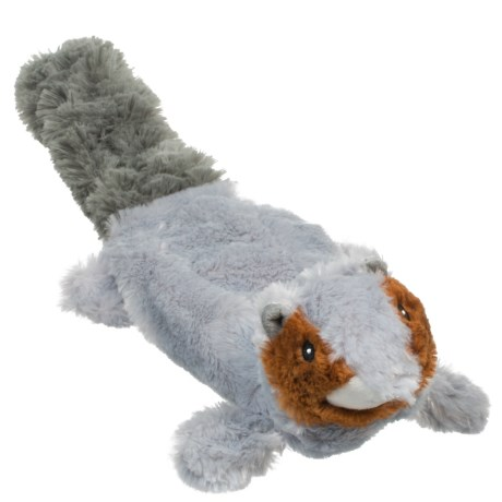 Outback Jack Lobbie Squirrel Dog Toy - Stuffing Free in See Photo