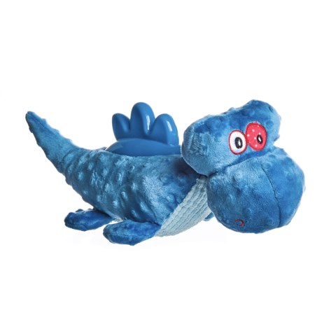 Outback Jack Plush and TPR Dinosaur Dog Toy - Squeaker in See Photo