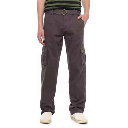 Outback Rider Belted Cargo Pants (For Men) in Charcoal - Overstock