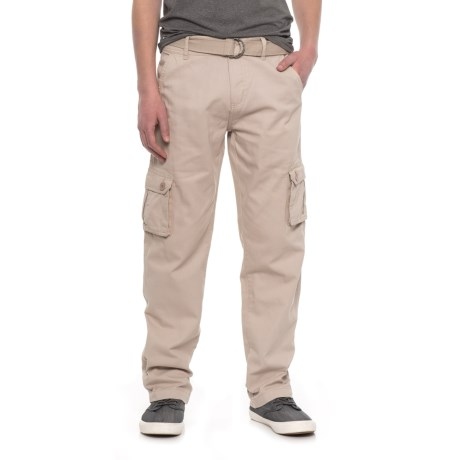Outback Rider Belted Cargo Pants (For Men) in Stone