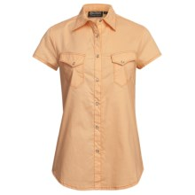 Outback Trading Annadale Shirt - Snap Front, Short Sleeve (For Women) in Peach - Closeouts