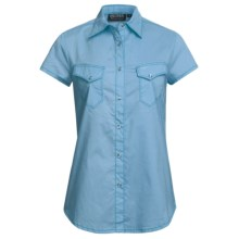Outback Trading Annadale Shirt - Snap Front, Short Sleeve (For Women) in Sky Blue - Closeouts