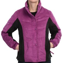 Outback Trading Burlington Down Jacket - Microsuede, Insulated (For Women) in Dark Magenta - Closeouts